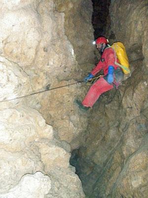 Didier sur le câble du Kiezenbachfalls