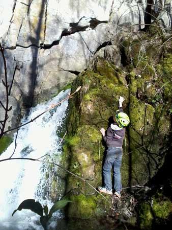 Cascade à la resurgence de roche