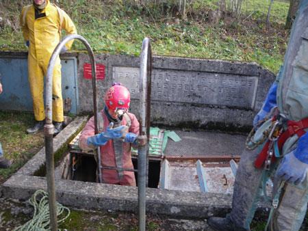 L'entrée du puits artificiel