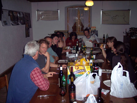Le soir à Grandchamps en compagnie du SCJ